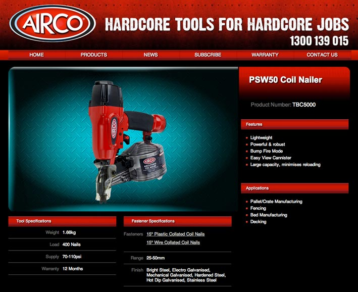 Tools website photographer Auckland NZ