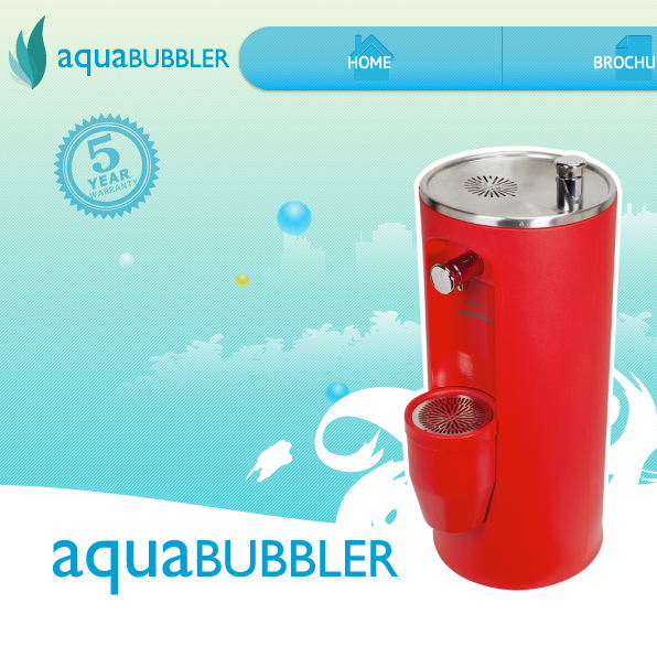 Aqua Bubbler – Website 3D Spin Design